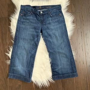 7 For All Mankind 7FAM Crop Dojo Jeans Size 30